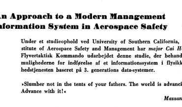 An Approach to a Modern Management Information System in Aerospace Safety
