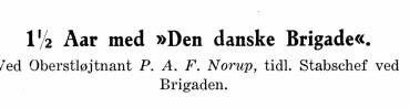 "1 1/2 Aar med ""Den danske Brigade"""