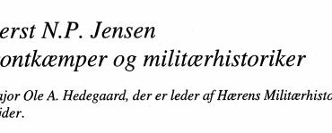Oberst N.P. Jensen - frontkæmper og militærhistoriker