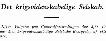 Det Krigsvidenskabelige Selskabs Bestyrelse 1942