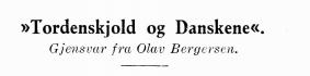 »Tordenskjold og Danskene«
