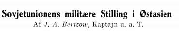 Sovjetunionens militære Stilling i Østasien 1