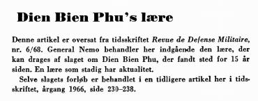 Dien Bien Phu's lære