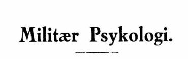 Militær Psykologi