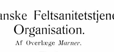 Den franske Feltsanitetstjenestes Organisation