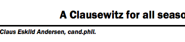 A Clausewitz for all seasons