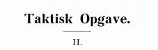 Taktisk opgave 1935 - 2
