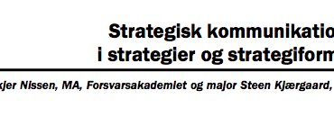 Strategisk kommunikations rolle i strategier og strategiformulering