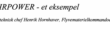 AIRPOWER - et eksempel