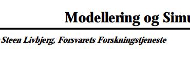 Modellering og Simulation