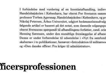 Officersprofessionen