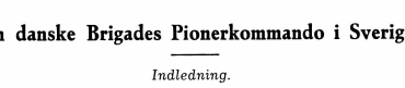 Den danske Brigades Pionerkommando i Sverige