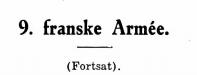 9. franske Armée (fortsat)