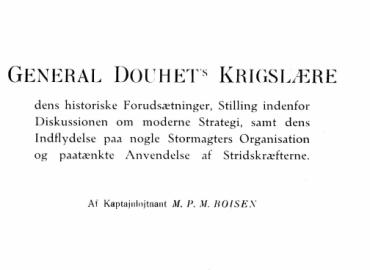 General Douhet's Krigslære
