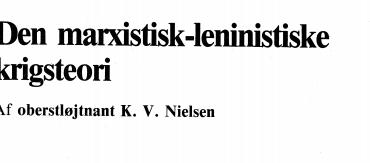 Den marxistisk-leninistiske krigsteori