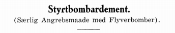 Styrtbombardement