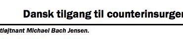 Dansk tilgang til counterinsurgency