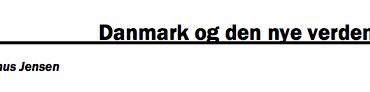 Danmark og den nye verdensorden