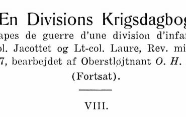 En Divisions Krigsdagbog - VIII