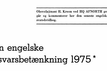Den engelske forsvarsbetænkning 1975
