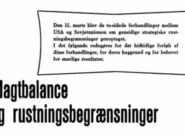 Magtbalance og rustningsbegrænsninger