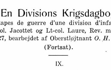 En Divisions Krigsdagbog - IX