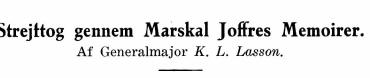 Strejttog gennem Marskal Joffres Memoirer