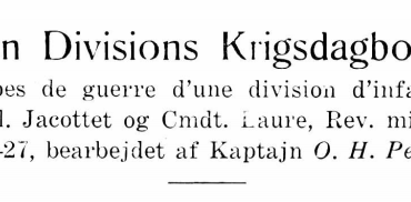 En Divisions Krigsdagbog