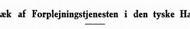 Træk af Forplejningstjenesten i den tyske Hær