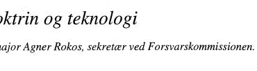 Doktrin og teknologi