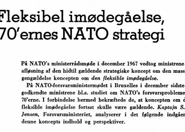 Fleksibel imødegåelse, 70'ernes NATO strategi