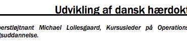 Udvikling af dansk hærdoktrin