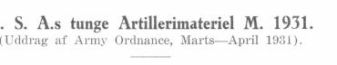 U. S. A.´s tunge Artillerimateriel M. 1931