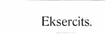 Eksercits