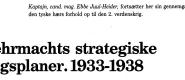 Wehrmachts strategiske krigsplaner: 1933-1938