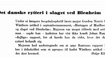 Det danske rytteri i slaget ved Blenheim