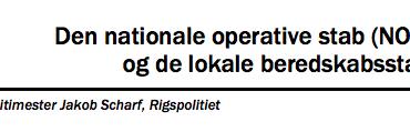 Den nationale operative stab (NOST) og de lokale beredskabsstabe
