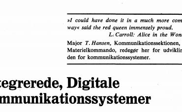 Integrerede, Digitale kommunikationssystemer