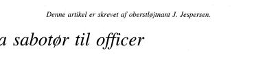 Fra sabotør til officer