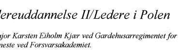 Videreuddannelse Il/Ledere i Polen