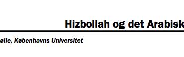 Hizbollah og det Arabiske Forår