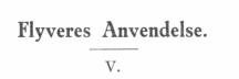 Flyveres Anvendelse - V