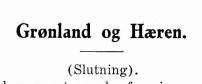 Grønland og Hæren - V. - slutning