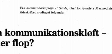 En kommunikationskløft - eller flop?