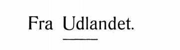 Fra Udlandet 1929 - 1