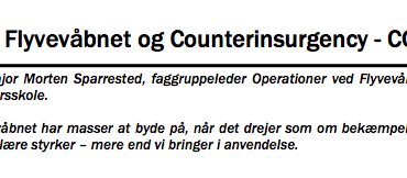 Flyvevåbnet og Counterinsurgency - COIN