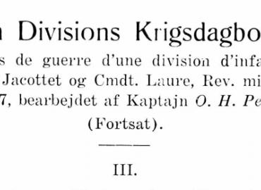 En Divisions Krigsdagbog - III
