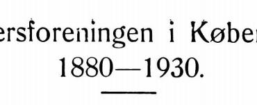 Officersforeningen i København 1880— 1930