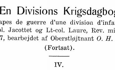 En Divisions Krigsdagbog - IV
