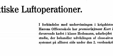 Taktiske Luftoperationer.